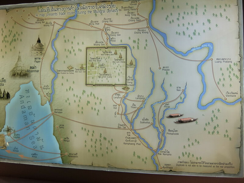 Чиангмай - Исторический центр - Карта