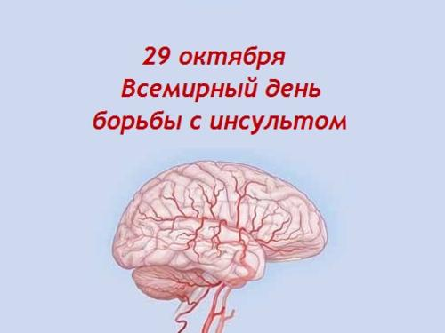Всемирный день борьбы с инсультом!
