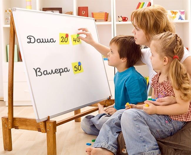 © depositphotos  Закаждое сделанное ребенком домашнее дело назначьте баллы : 60баллов замыт