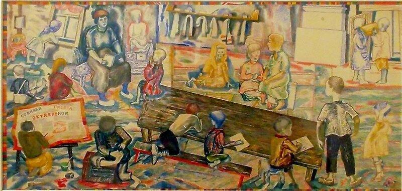 Павел Кондратьев_Детский сад в деревне_1930.JPG