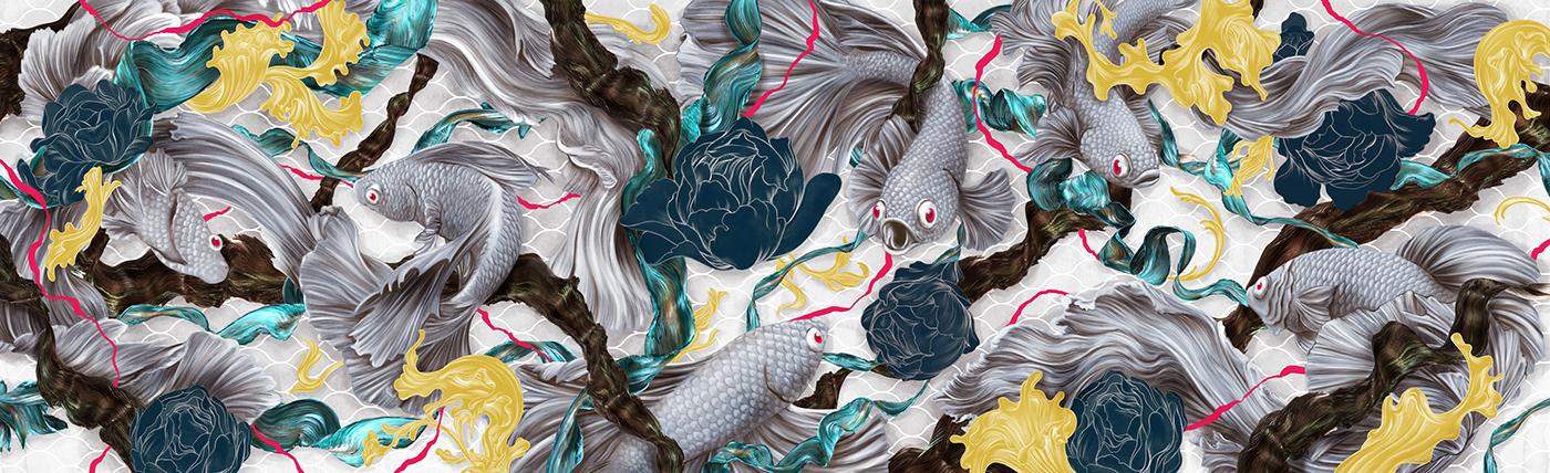 Chatchanok Wongvachara e sua habilidade na ilustracao manual (7 pics)