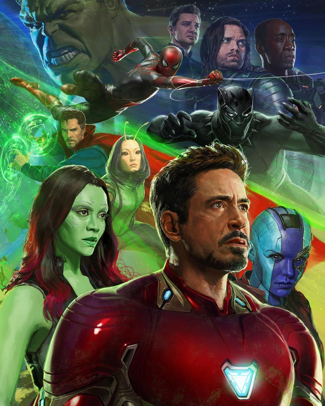 Avengers: Infinity War 2017 SDCC Poster Art by Ryan Meinerding