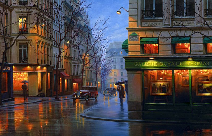 Beautiful Night Cityscapes Paintings (35 pics)