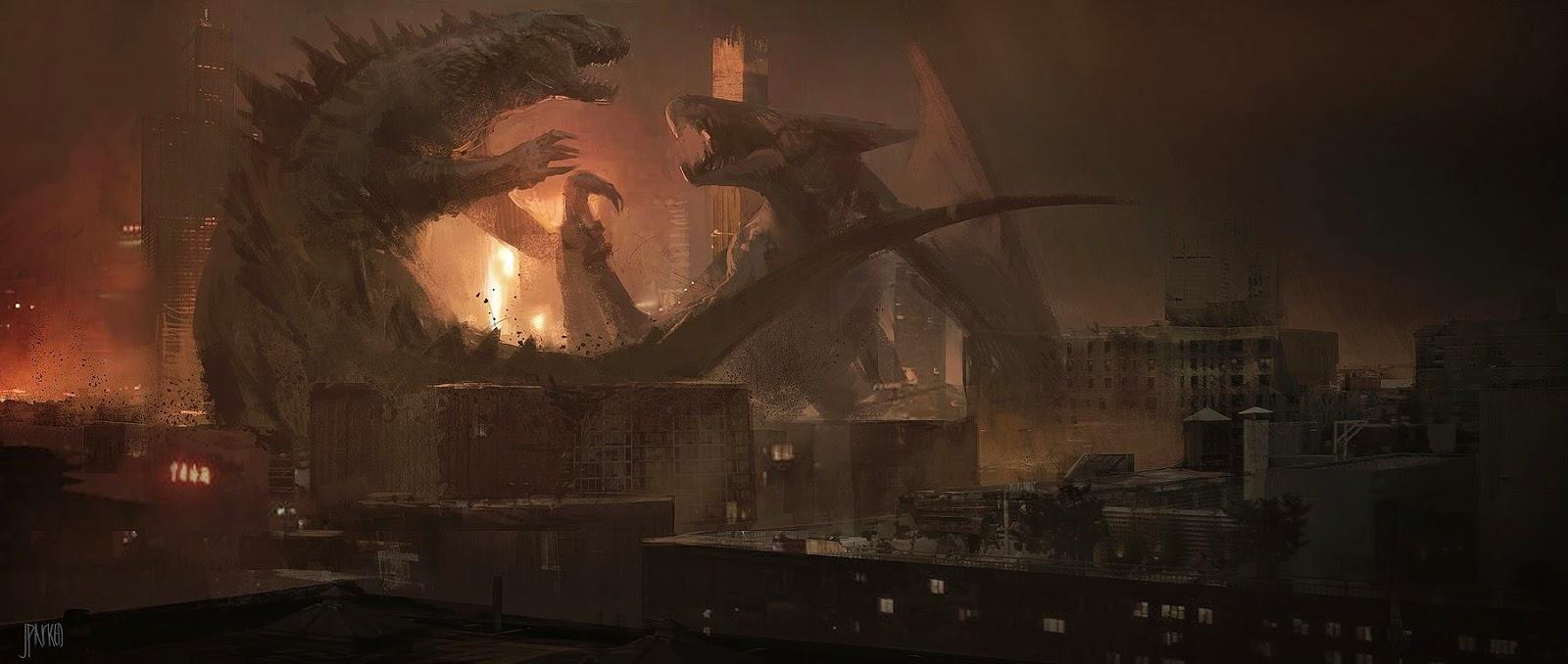 Godzilla Concept Art by John Park (2 pics)