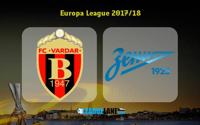 Вардар – Зенит (14.09.2017) | Лига Европы 2017/18 | Групповой этап | 1-й тур