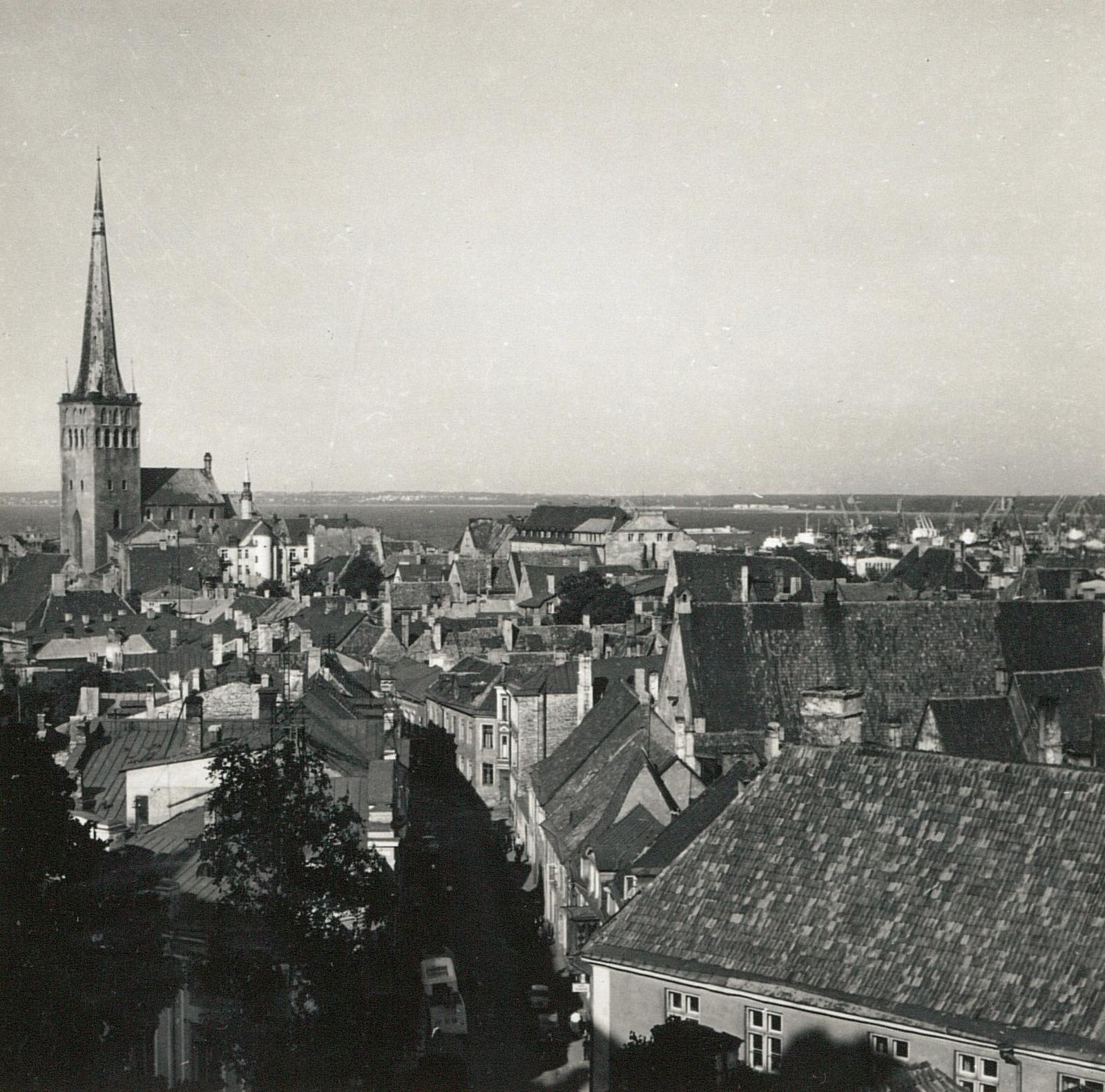 Таллин. Вид из крепости на северо-восток