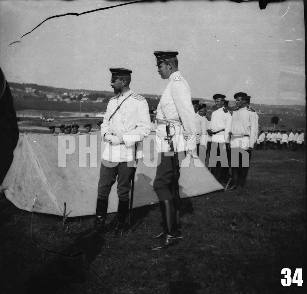 34. Илья Леонидович Татищев и офицер в чине полковника