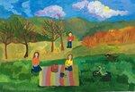 Кулакова Юлия (рук. Суетина Мария Александровна) - Отдых на природе