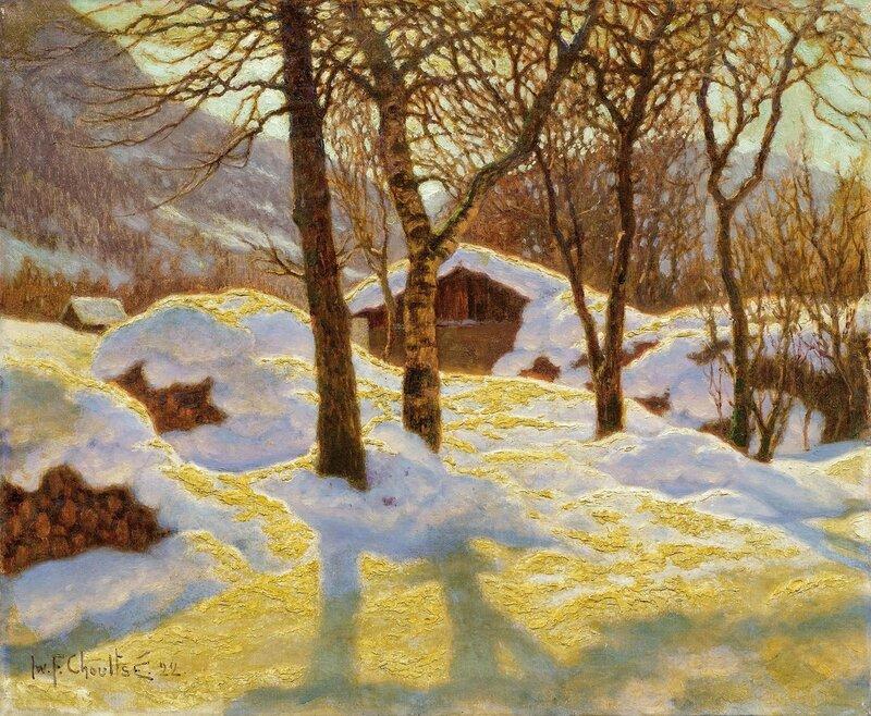 1922_Зимний пейзаж в утреннем солнце (The morning sun in a winter landscape)_55 х 66_х.,м._Частное собрание.jpg