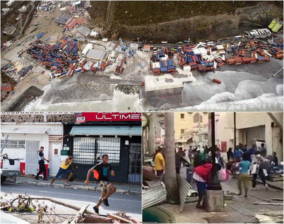 Анархия и мародерство в Карибском бассейне после урагана Ирма