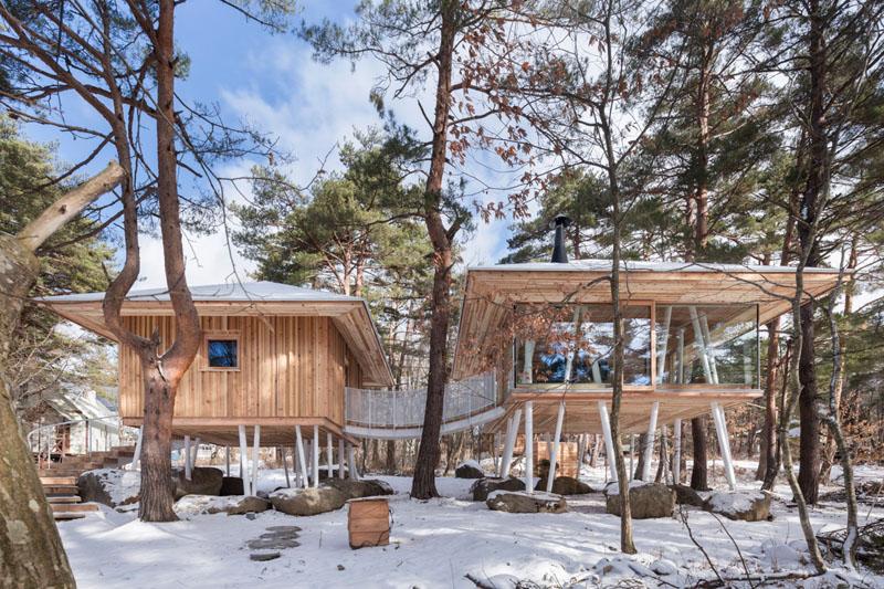 Японский загородный дом на сваях