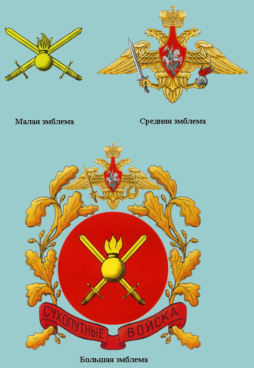 Эмблемы сухопутных войск