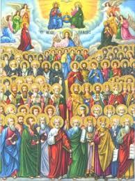 Открытки на День Всех Святых. Лики святых