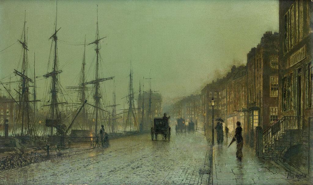 1881_Док в Глазго. 30 х 50 см.jpg