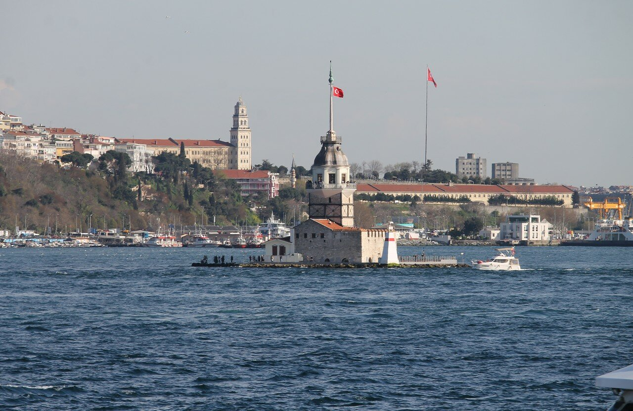 Istanbul. The Bosphorus, the Maiden tower