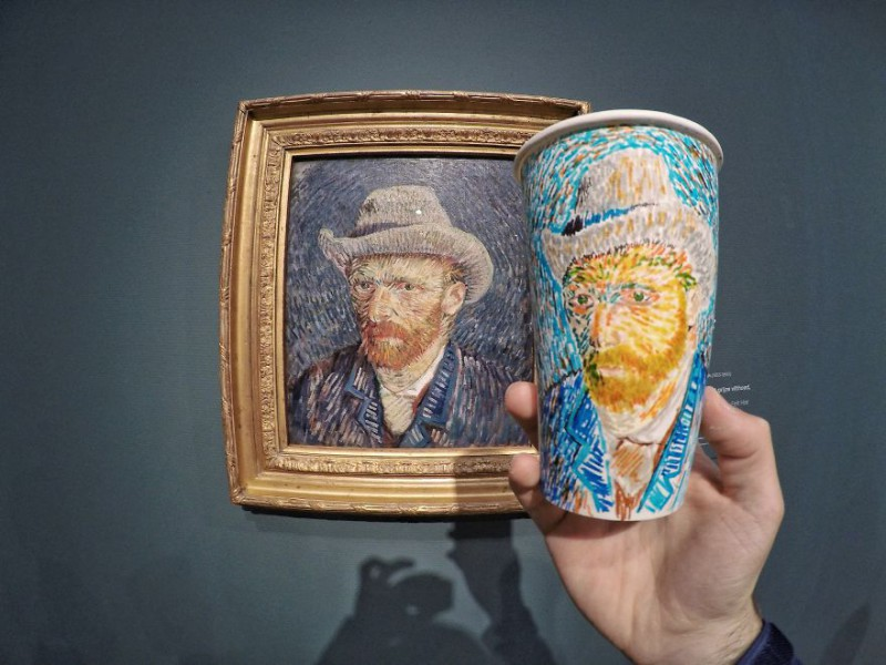 «Автопортрет в соломенной шляпе», Винсент Ван Гог.