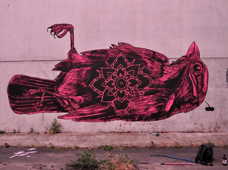 Заброшенный стрит-арт Джеймса Калинда (12 фото)