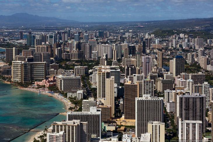 Полет над Гавайями. Остров Оаху (49 фото)