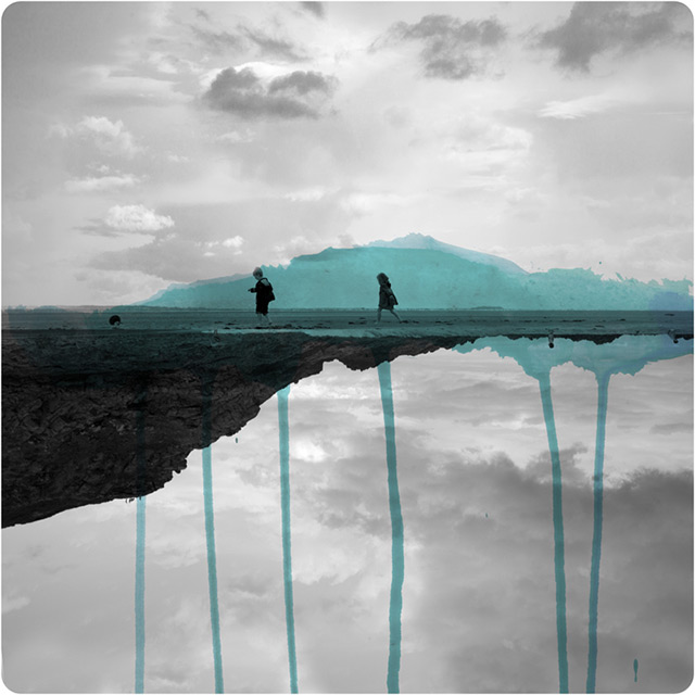 Mirrored Photographs Combined with Watercolor by Fabienne Rivory (6 pics)