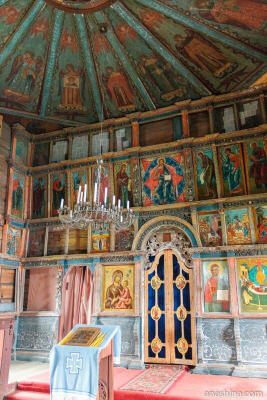"""Иконостас и """"небо"""", Успенская церковь, Кондопога"""