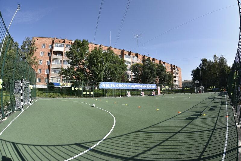 Спортплощадка школы №24 в Бачатском