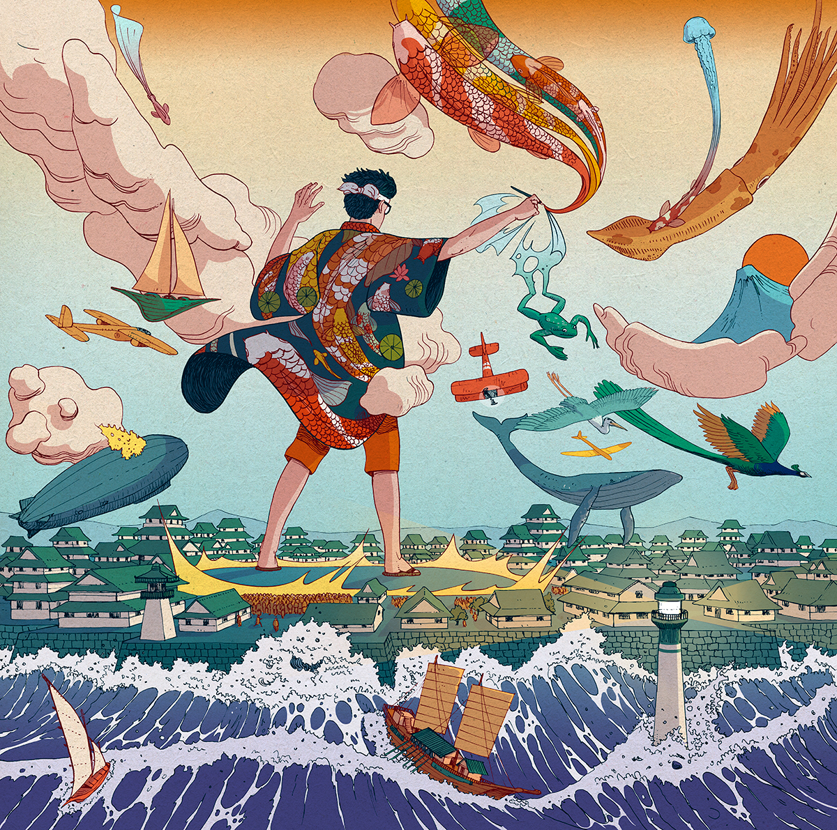 Ukiyo-e Tale: A Personal Illustration Project by Nicolas Castell