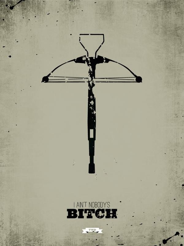 The Walking Dead Minimalist Posters - Ryan McArthur
