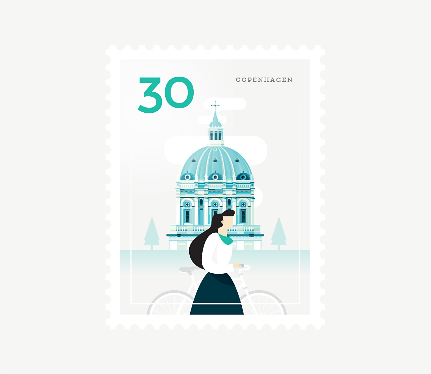 Minimalists Illustrated Stamps of Iconic Cities