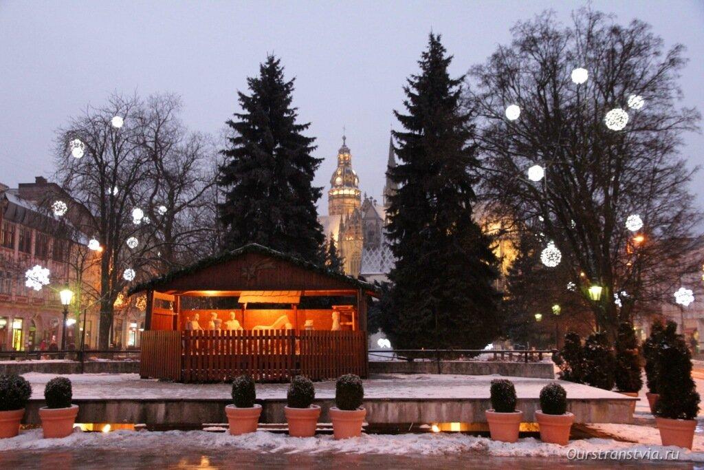 Кошице зимой, Словакия