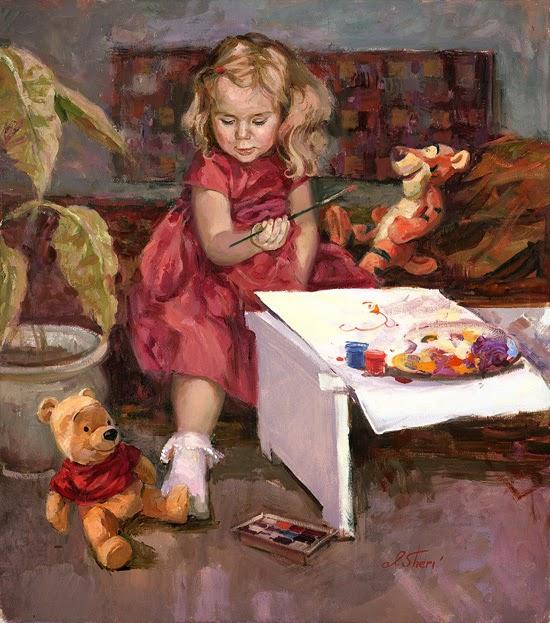 Художница Ирина Вишневская и дети в её картинах