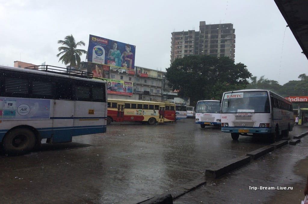 Пока ждали автобус, погода совсем испортилась