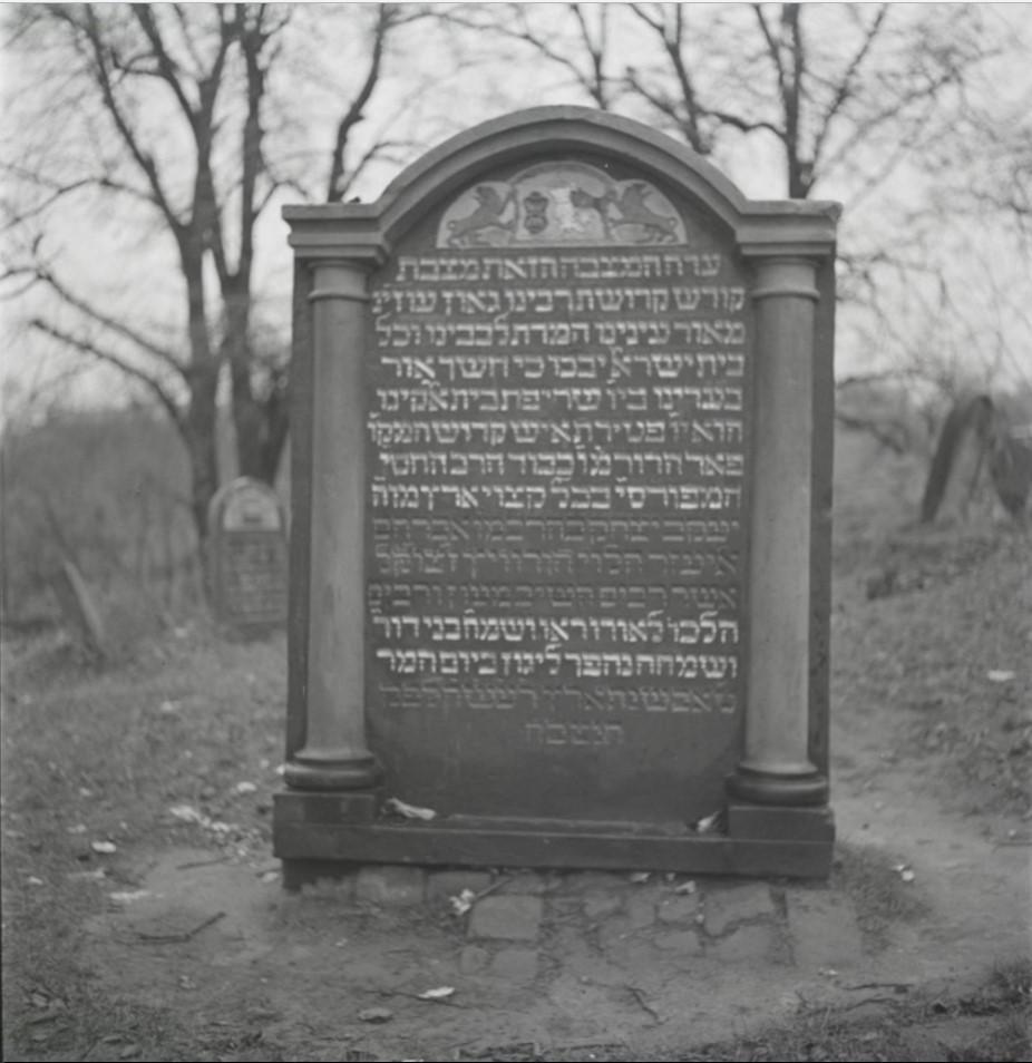 Могила раввина Яакова Ицхака Горовица на старом еврейском кладбище