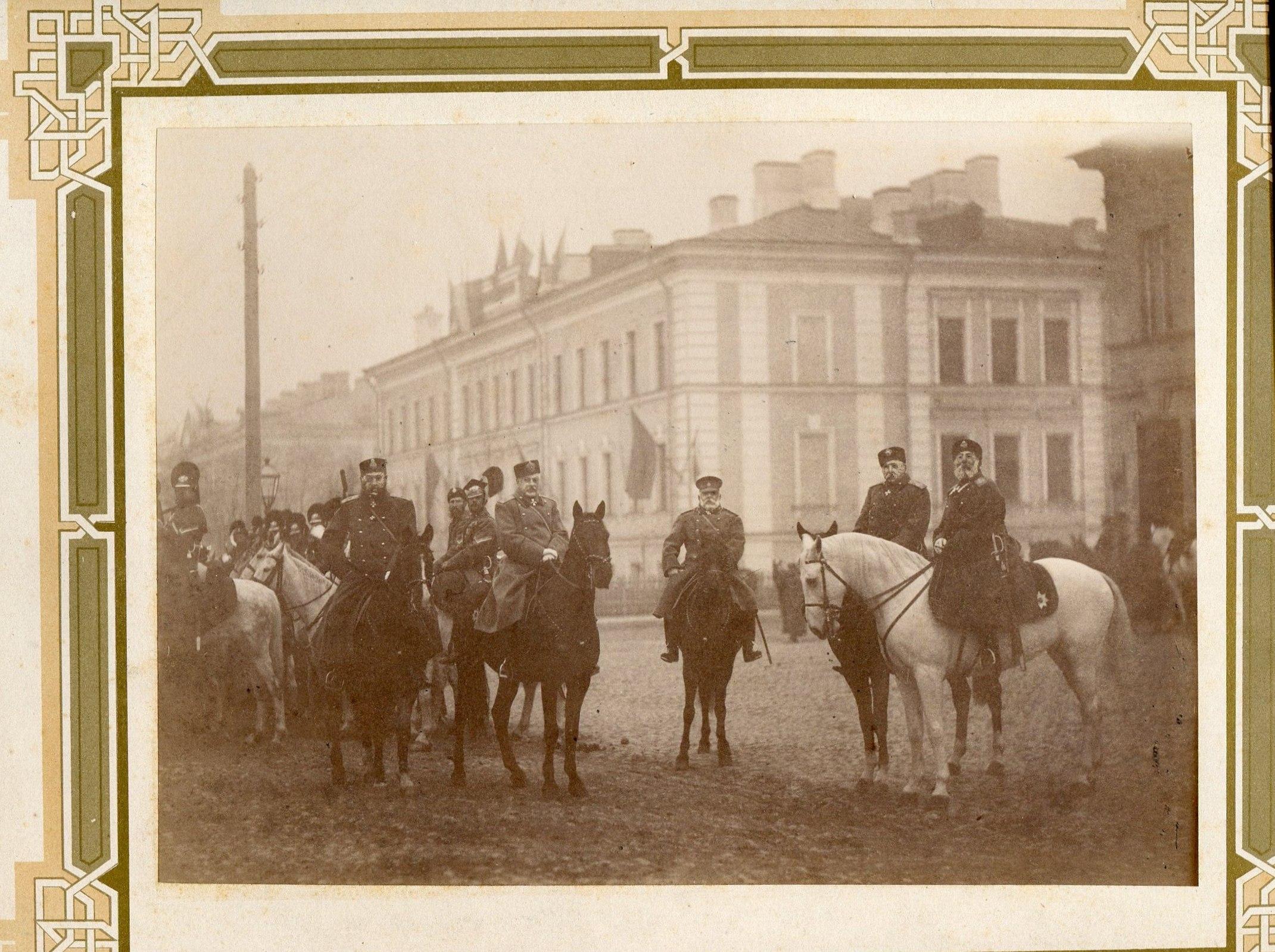 Фотография с группой генералов, кавалеров ордена св.Георгия III-IV ст.