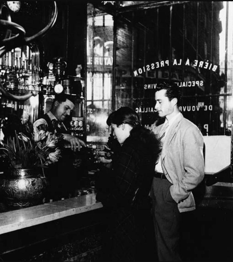 1947. Пивной бар в Париже