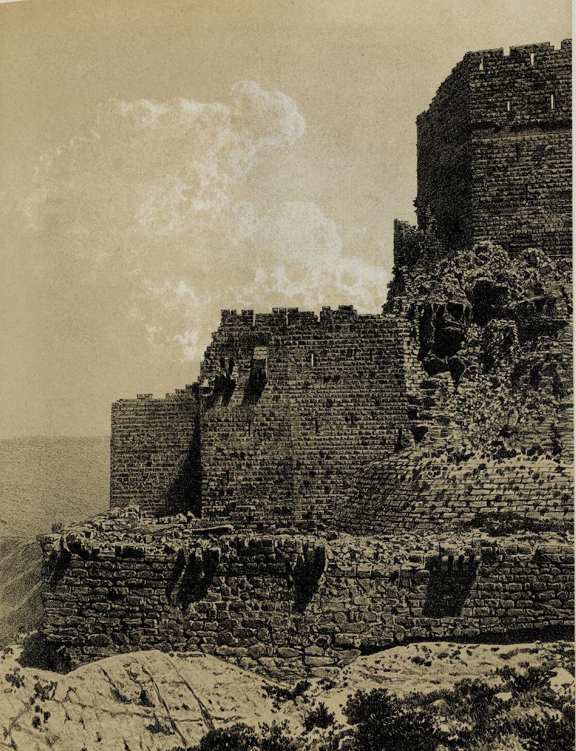 60. Эль-Карак. Юго-западный угол замка и первый ров крепости