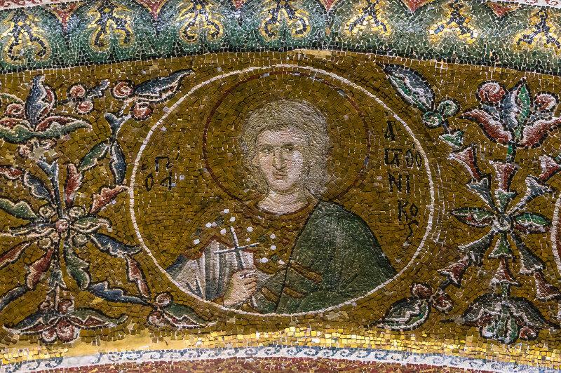 Мозаики и фрески монастыря Хора. Церковь Христа Спасителя в Полях.