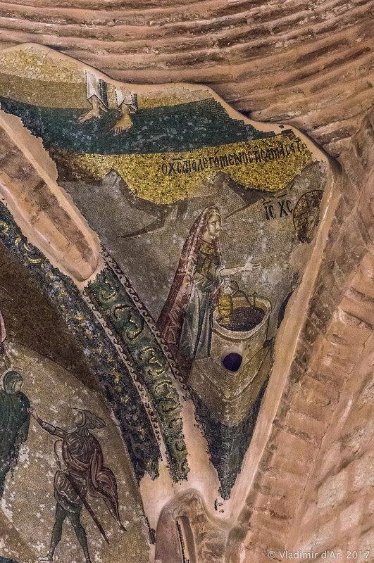 Христос с Самаритянкой. Мозаики и фрески монастыря Хора. Церковь Христа Спасителя в Полях.