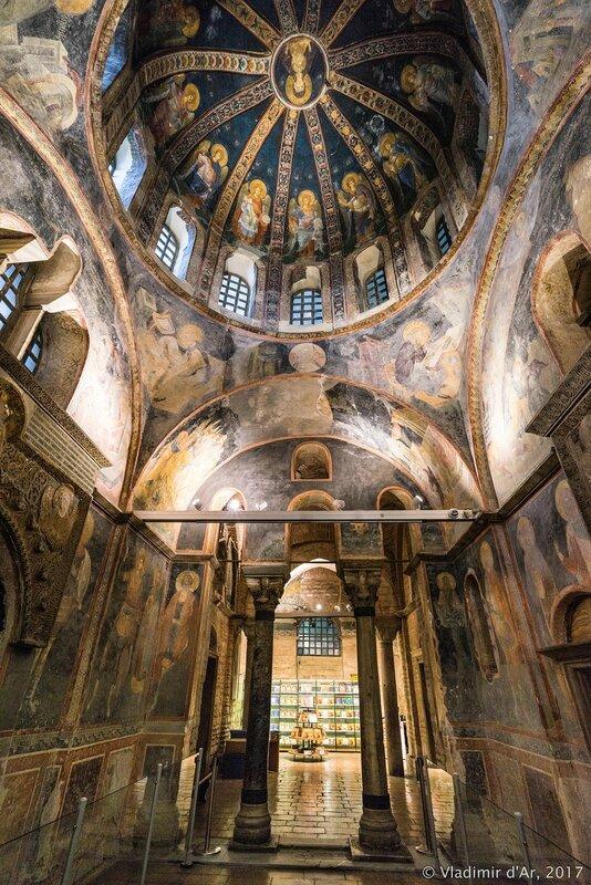 Мозаики и фрески монастыря Хора. Церковь Христа Спасителя в Полях. Западный компартимент парэклессия.