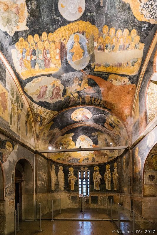 Страшный Суд. Мозаики и фрески монастыря Хора. Церковь Христа Спасителя в Полях.