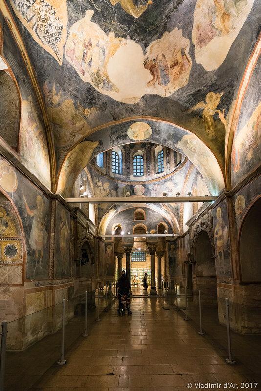Мозаики и фрески монастыря Хора. Церковь Христа Спасителя в Полях. Парэкклесий.