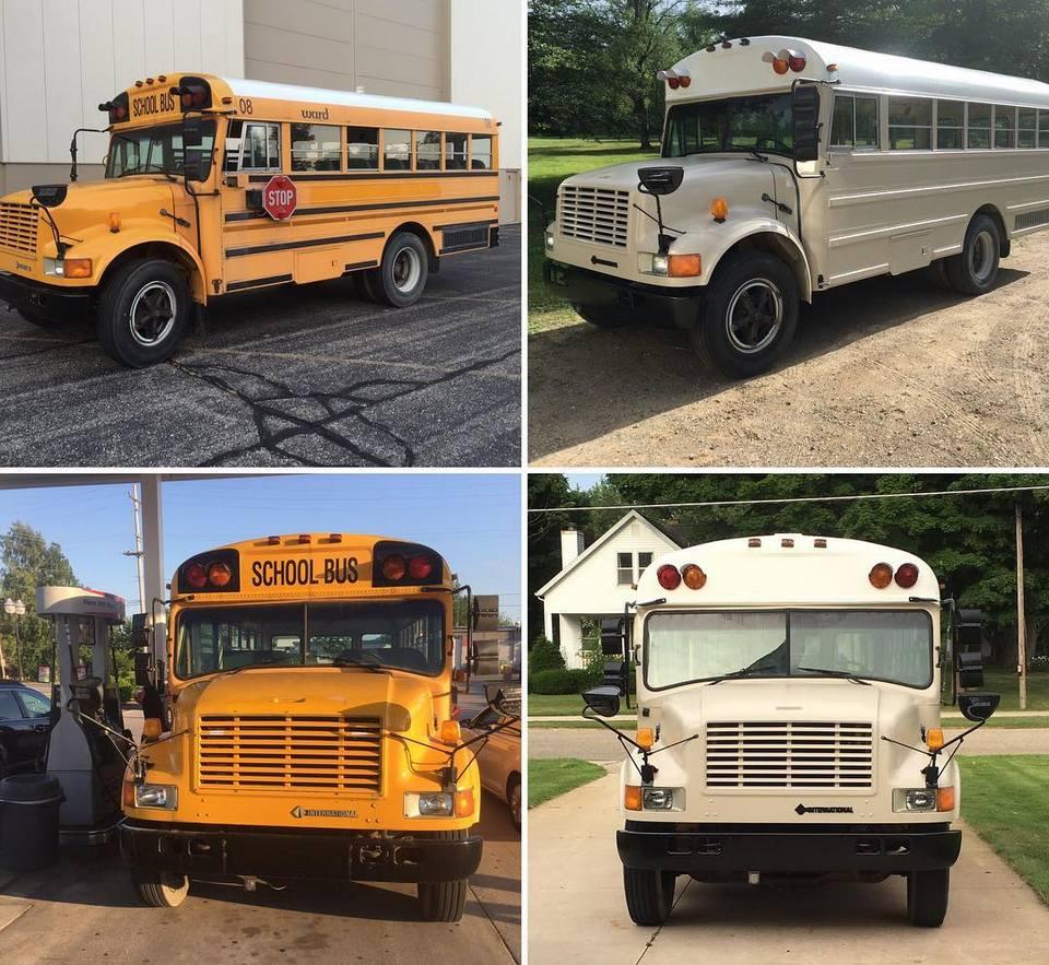 Пара превратила школьный автобус в дом на колесах и путешествует по США