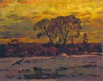 Конец зимы  холст, масло 64 x 50 см. 1989.