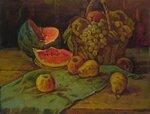 Натюрморт с арбузом холст, масло 95 x 73 см. 1989.
