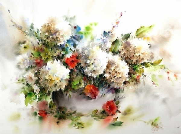 Цветочные акварели / художник Mohammad Yazdchi