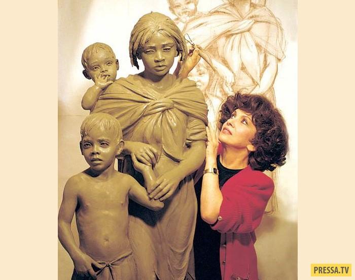 Джина Лоллобриджида за работой. А то, что Джина впоследствии стала скульптором, – это совсем не случ