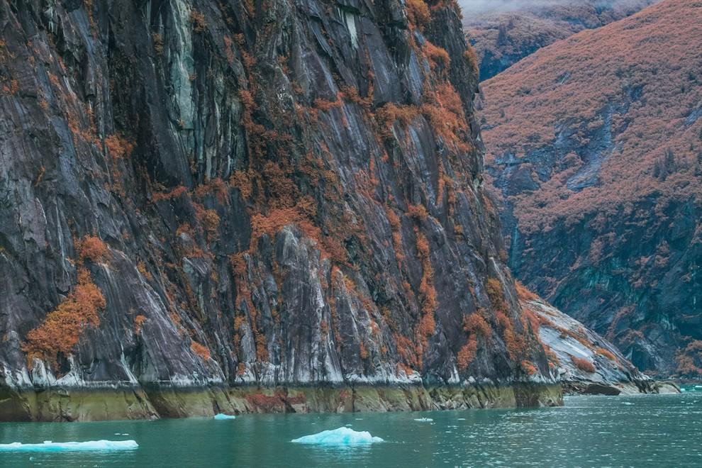 Вы не поверите, но это Земля: фьорд Трейси Арм на Аляске в инфракрасном свете