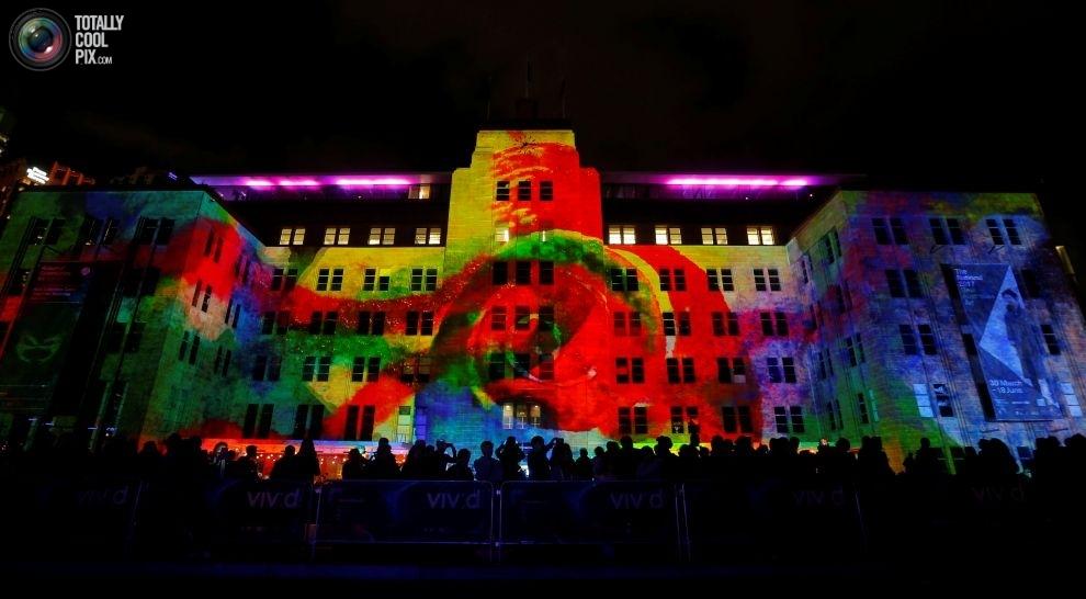 Грандиозный фестиваль света Sydney Vivid в Сиднее