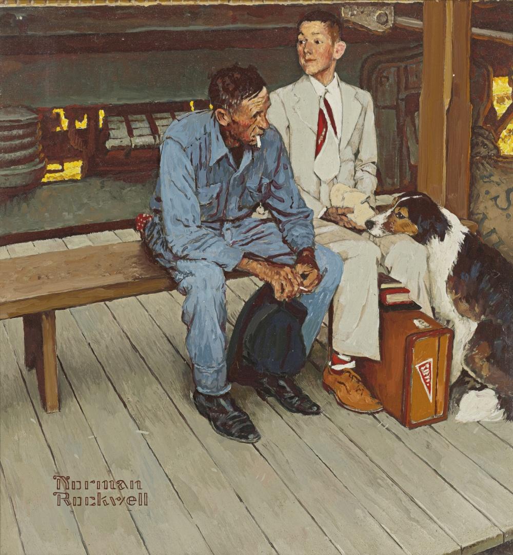 «Яхотел выразитьто, что чувствует отец, когда его дети покидают дом»,— говорил Роквелл обэтой ил