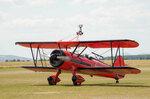 Воздушные акробаты WINGWALKERS с пилотом Эмилианой и девушкой Даниэлой на крыле