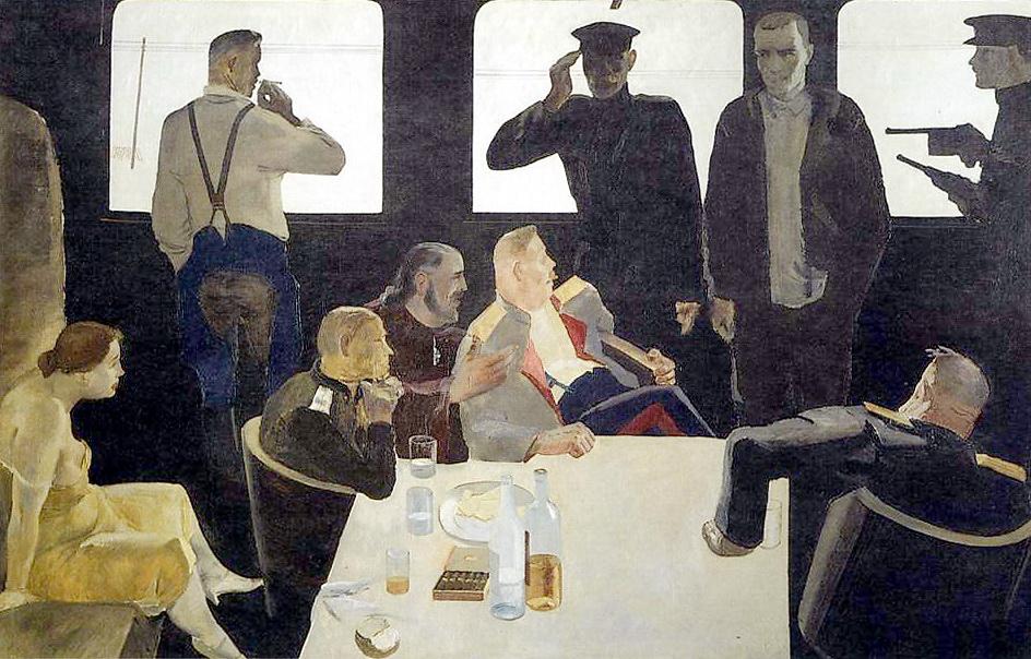 01-Александр Дейнека. На допросе. Штаб белых. 1933